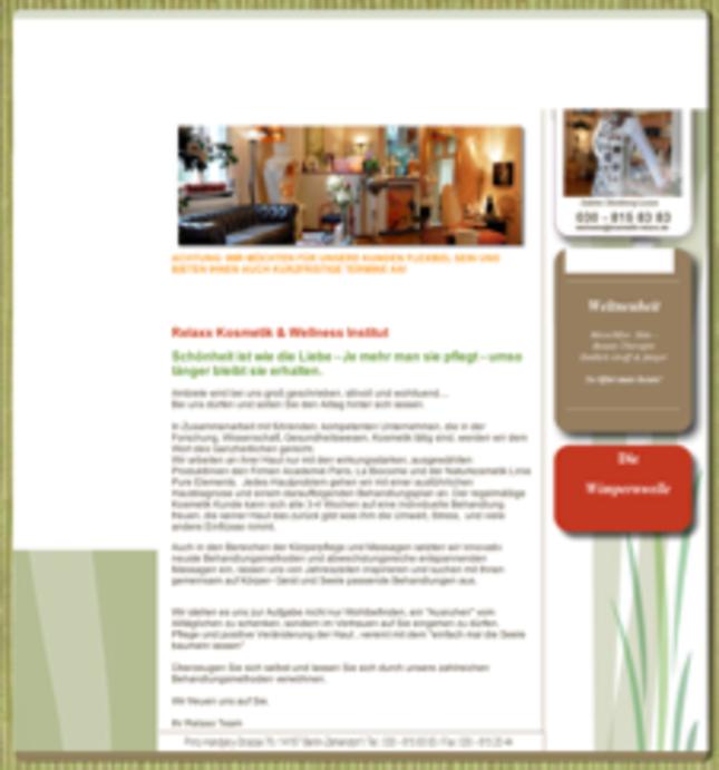 Relaxx Kosmetik & Wellness Institut in Berlin (Kosmetikstudio, Massage)
