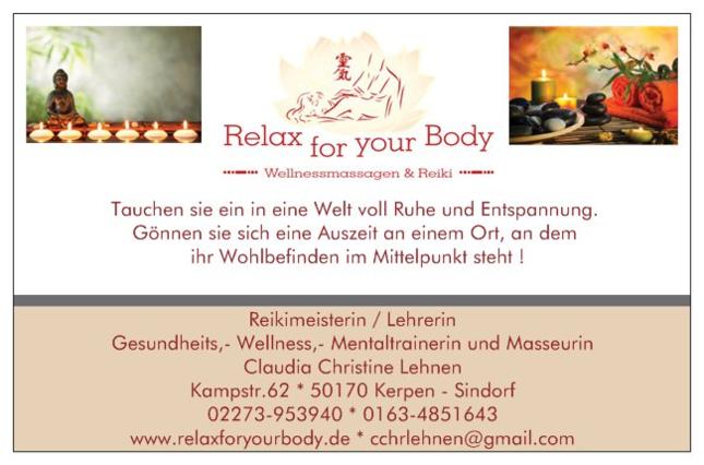 Wellness Massage Reiki Studio in Kerpen (Massage, Mobile Massage)